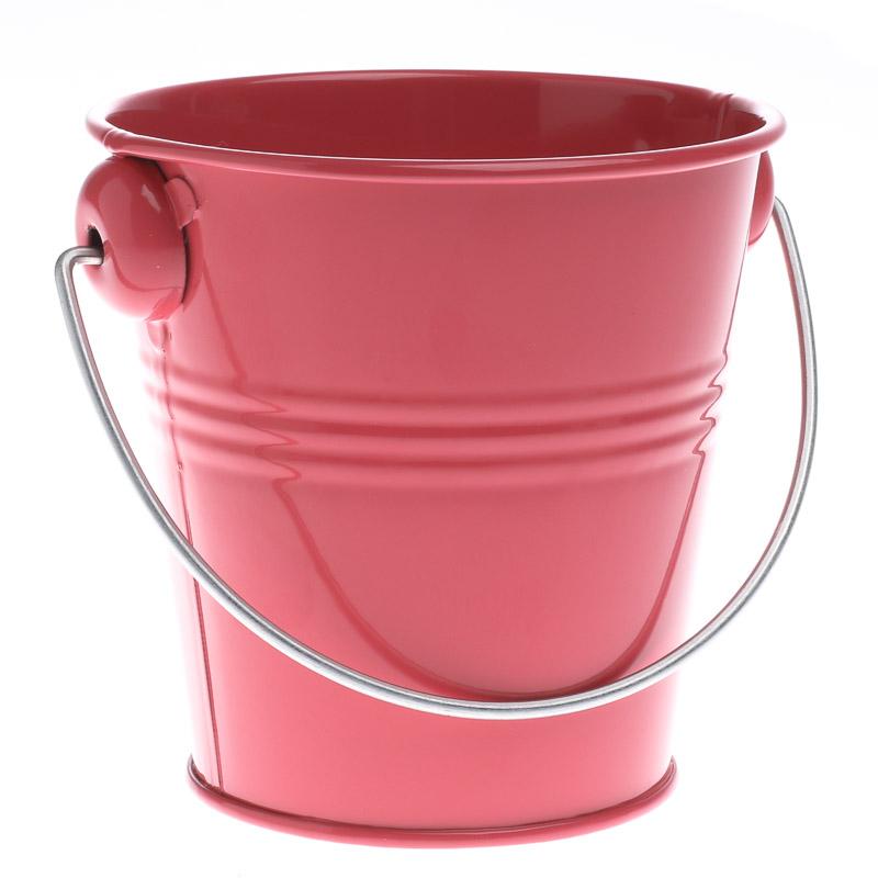 coral metal pail