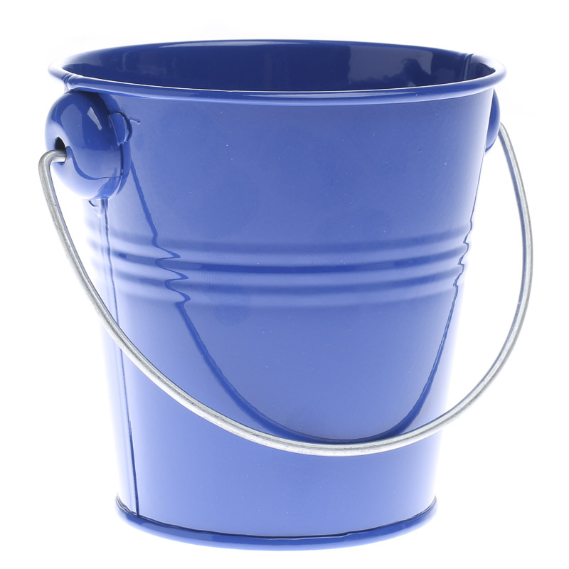 Royal Blue Metal Pail - Baskets, Buckets, & Boxes - Home Decor