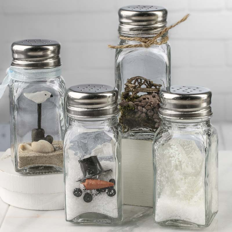 Small Glass Shaker Jar Bottle Decorative Containers