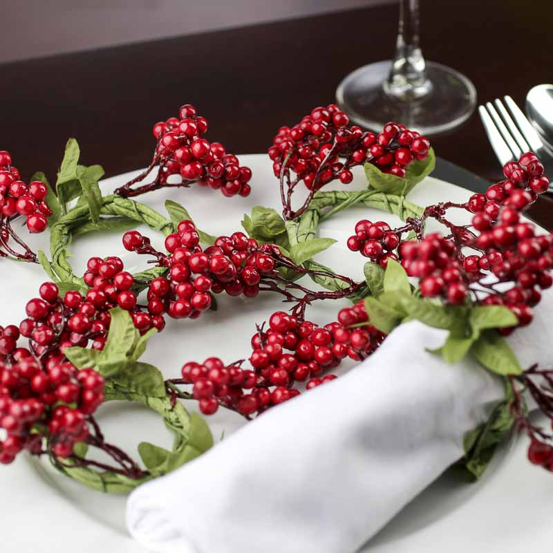 Red Berry Napkin Rings