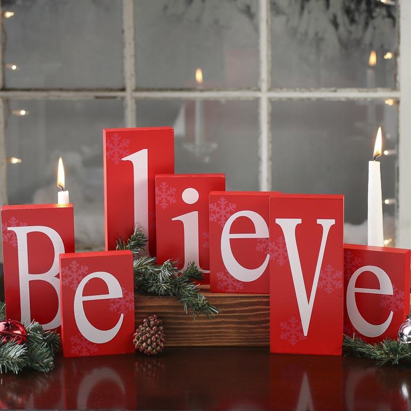 Diy Glass Calendar : Christmas blocks decorations my web value