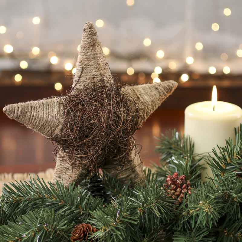 Rustic Jute And Twig Star Tree Topper