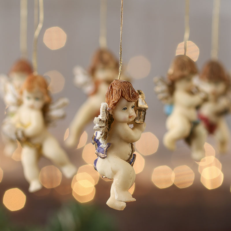 Click Here For A Larger View - Musical Cherub Angel Ornaments - Christmas Ornaments - Christmas And