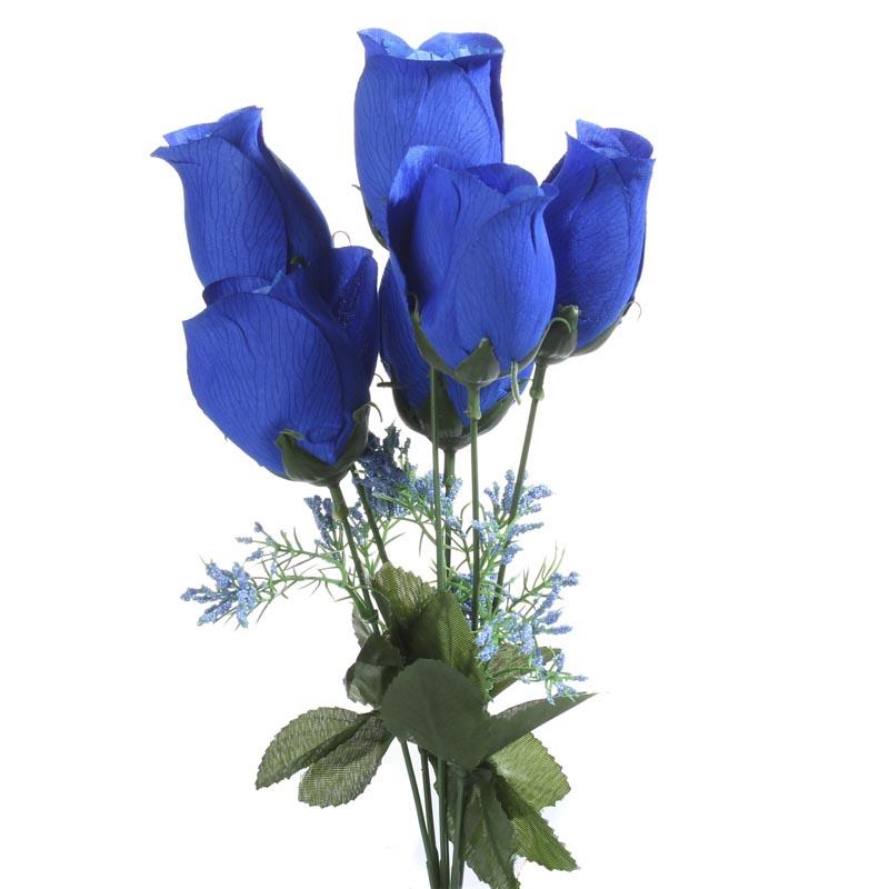 Royal Blue Artificial Rose Bush Bushes Bouquets
