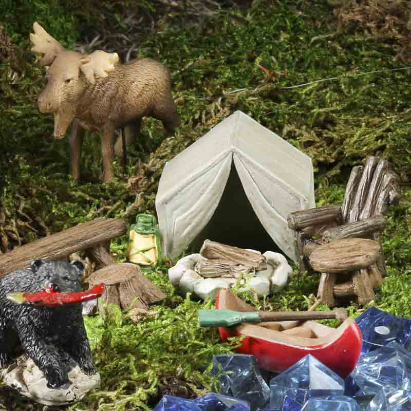 Mini Camping in the Woods Set - Table Decor