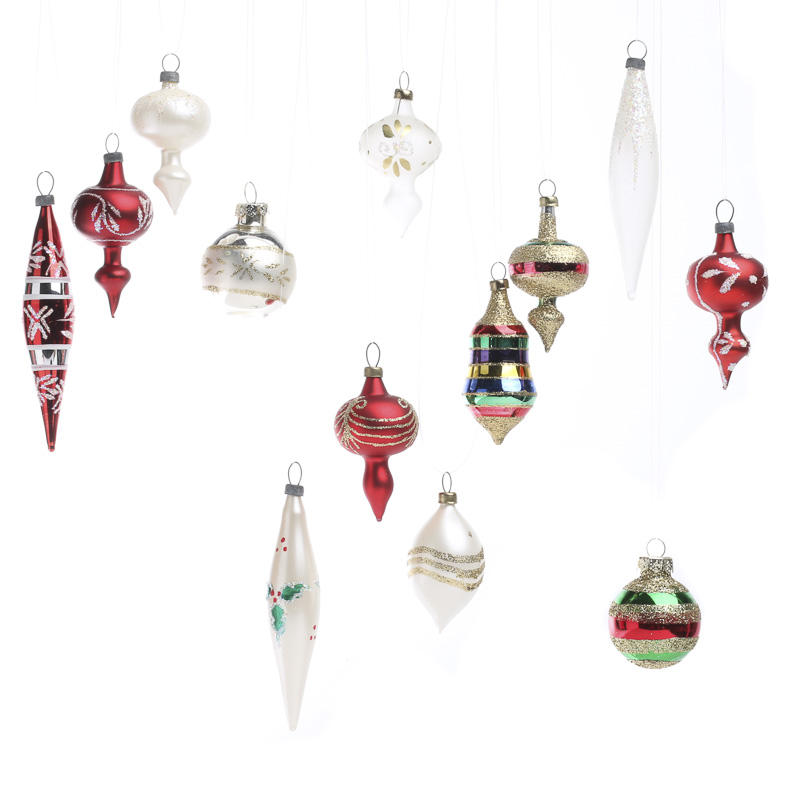Small glass christmas ornaments christmas and winter for Christmas ornaments sale