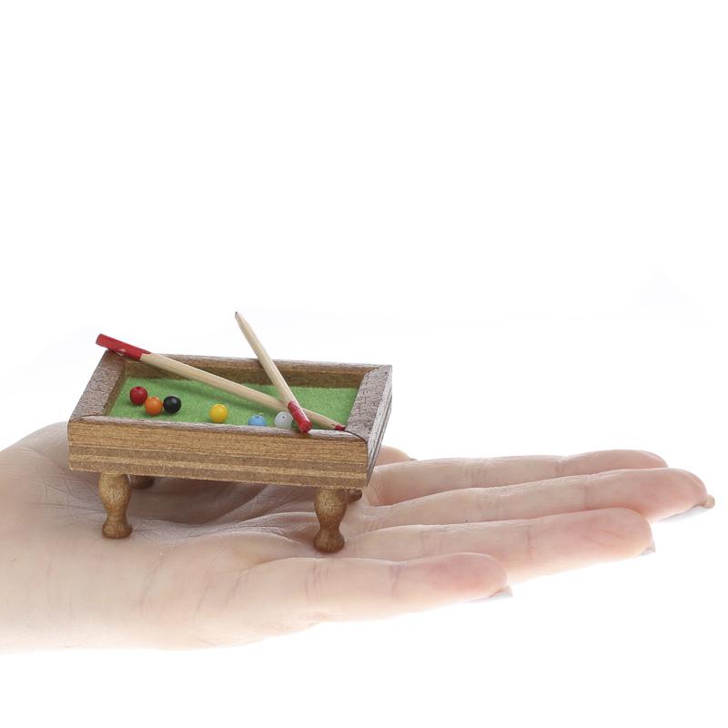 Dollhouse Miniature Pool Table Fairy Garden Miniatures Dollhouse Miniatures Doll Making