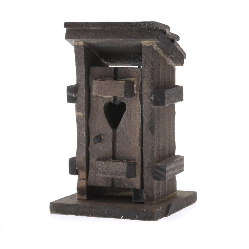 Miniature Rustic Wood Outhouse - Fairy Garden Miniatures - Dollhouse on craft office designs, craft wood designs, craft bar designs, craft room designs, craft boat designs, craft home designs, craft shed designs, craft store designs,
