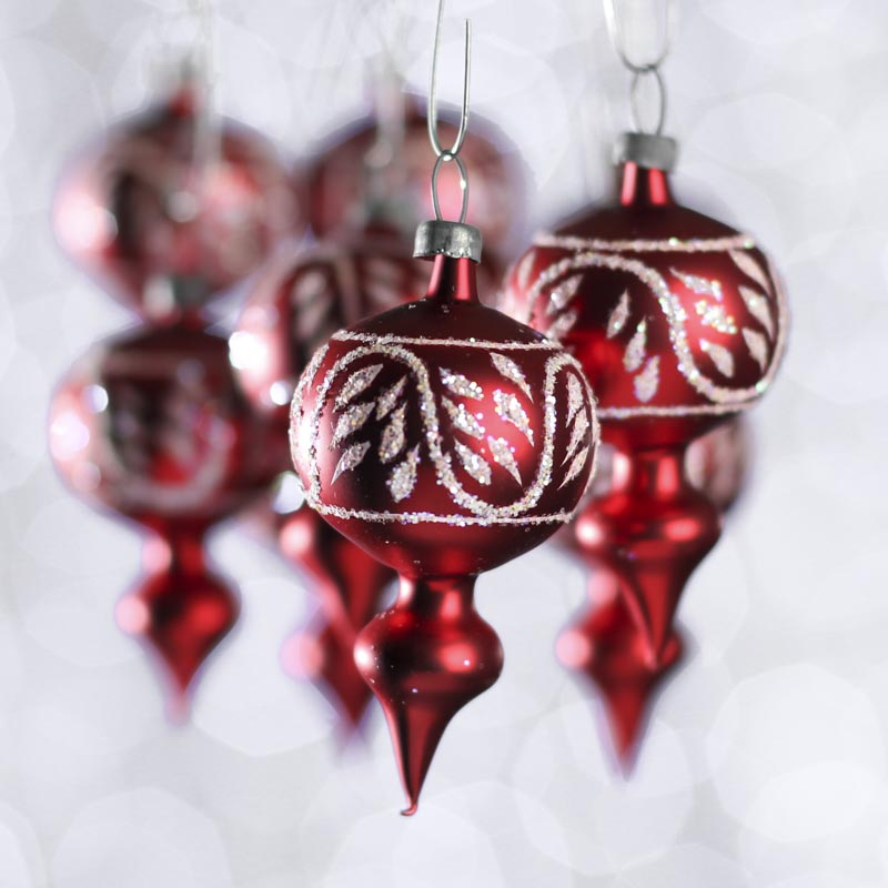 Small glass christmas ornaments