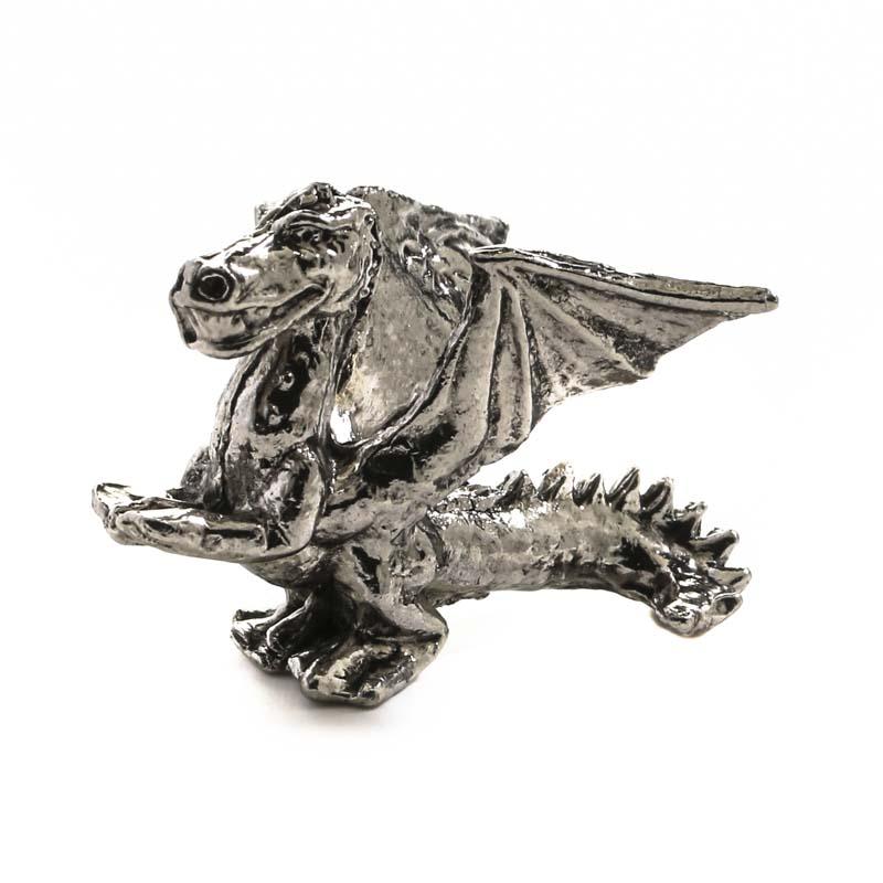 Miniature pewter dragon figurine miniatures sale sales - Pewter dragon statues ...