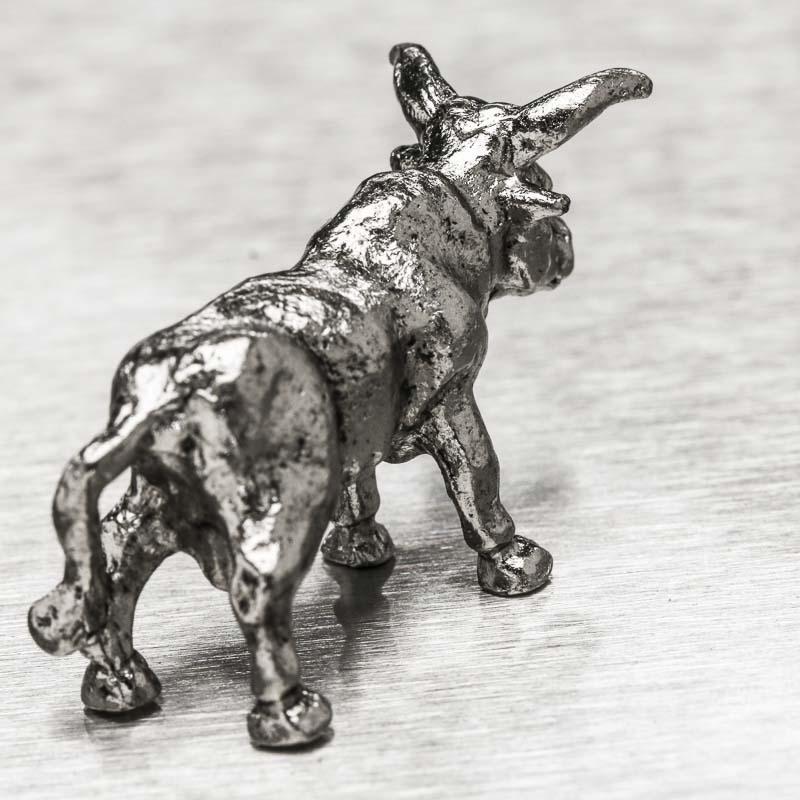 Dollhouse Miniatures Texas: Miniature Pewter Texas Longhorn Steer Figurine