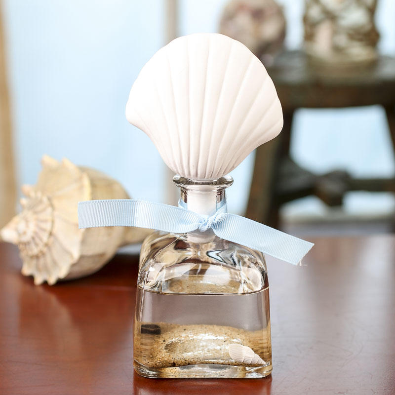 Decorative scented oil with porcelain shell diffuser for Decorative diffuser