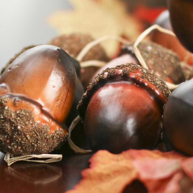 Large artificial acorn ornaments bowl and vase fillers for How to make acorn ornaments
