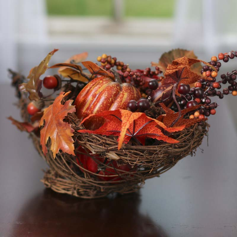 Fall Grapevine Twig Cornucopia Table Decor Fall And