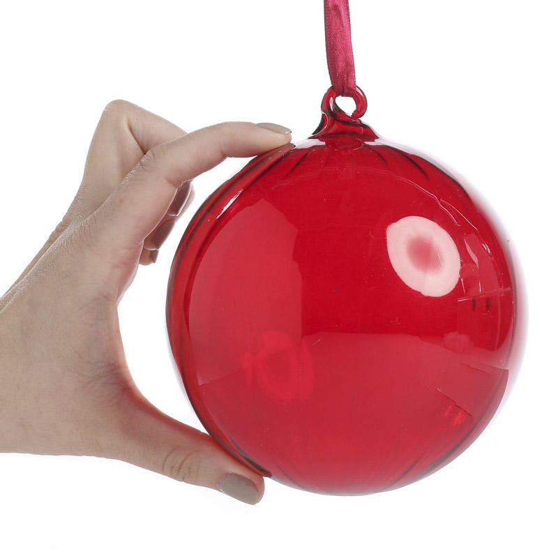 large red swirl glass ball ornament christmas ornaments christmas and winter holiday crafts - Large Red Christmas Decorations
