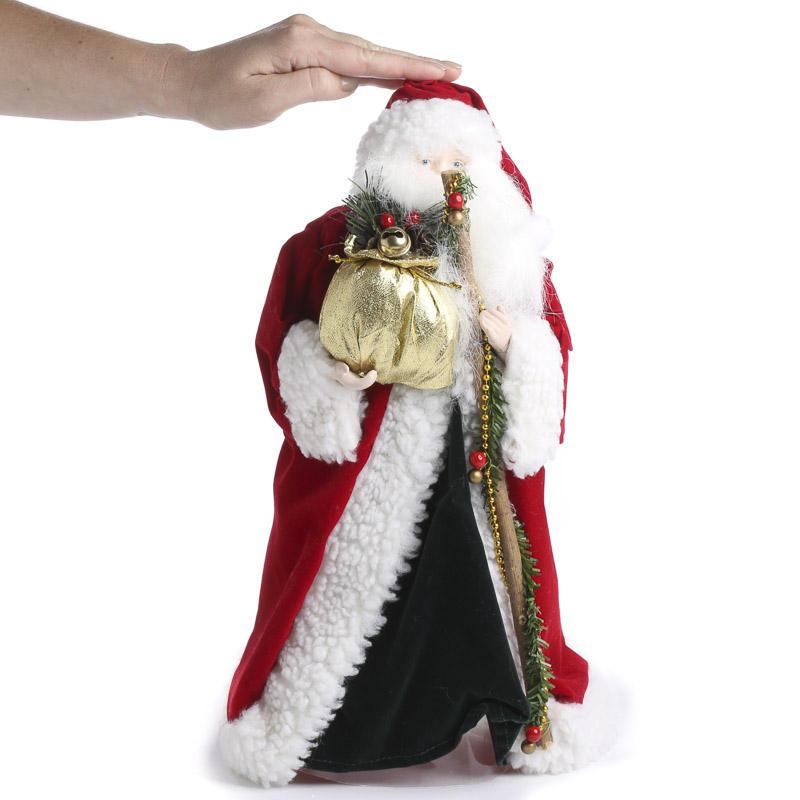 Christmas Tree Toppers Santa: Vintage Inspired Father Christmas Santa Tree Topper