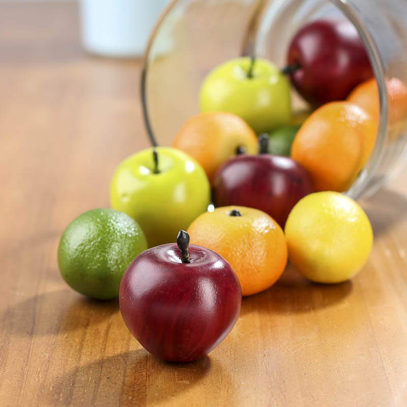 Mixed artificial fruit vase and bowl fillers home decor for Artificial fruit for decoration
