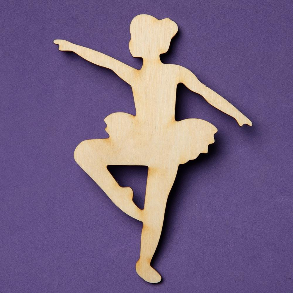 Unfinished Wood Ballet Dancer Cutout - Wood Cutouts ...
