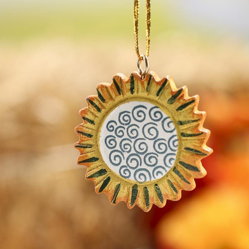 Autumn Sunflower Ornament - Wall Art - Fall and Halloween - Holiday ...