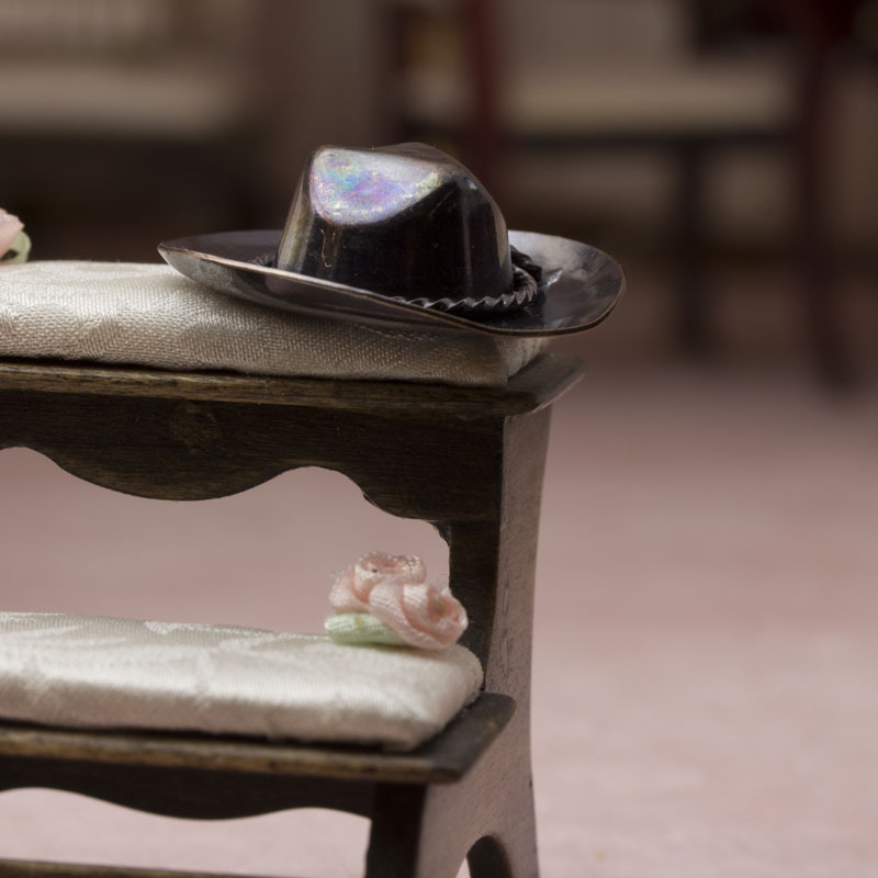 Miniature cowboy hat bathroom laundry miniatures for Tiny cowboy hats for crafts