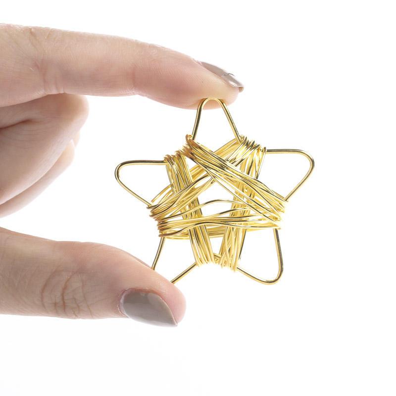 Miniature gold stars jewelry charms pendants