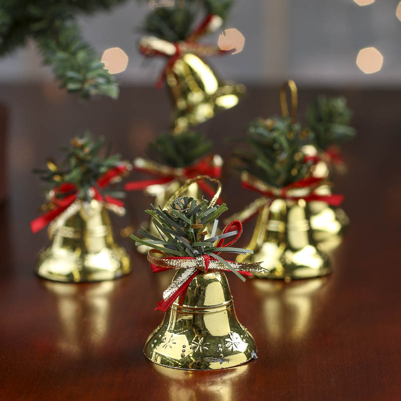 Small brass bell christmas ornaments