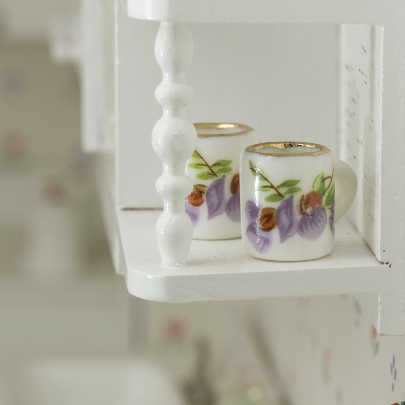 Dollhouse Miniature Coffee Cups Kitchen Miniatures