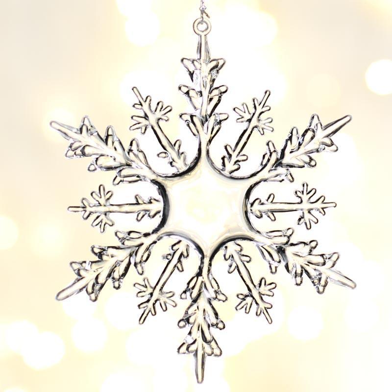 Clear Acrylic Snowflake Ornaments - Christmas Ornaments ...