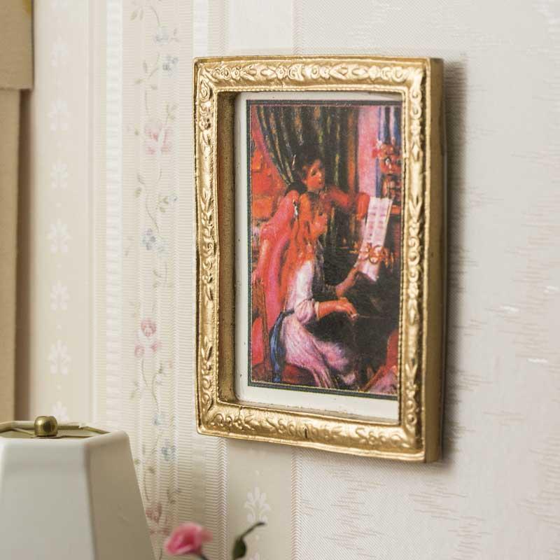 Dollhouse Miniature Elegant Framed Painting