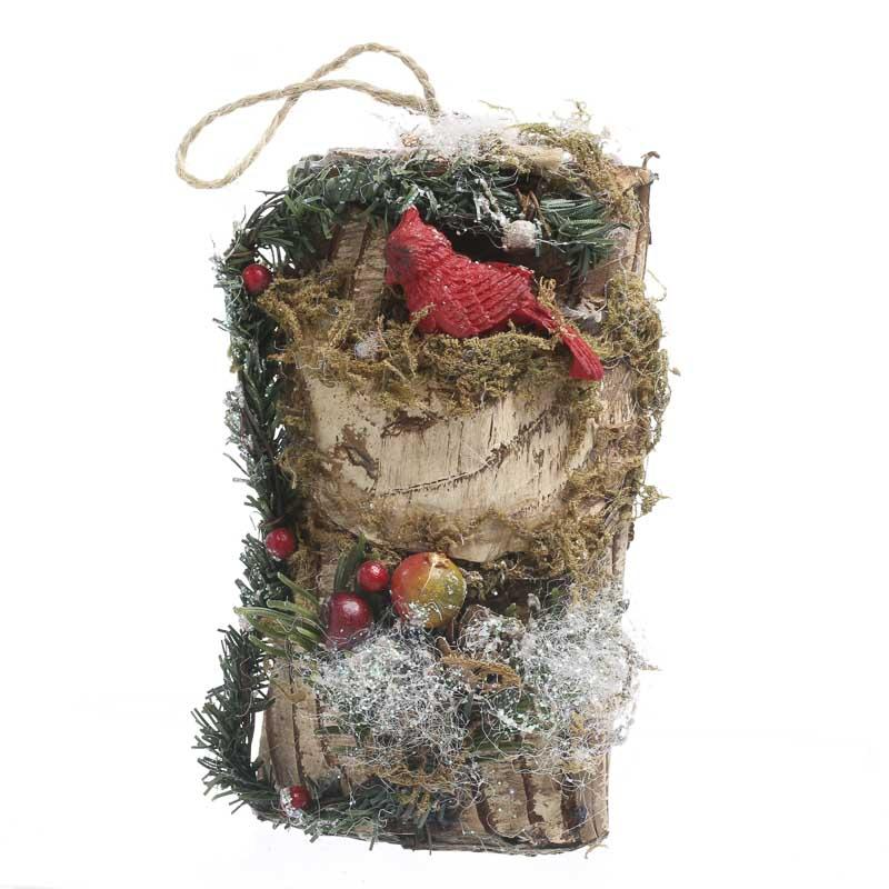 Sparkling woodland christmas ornament wall art