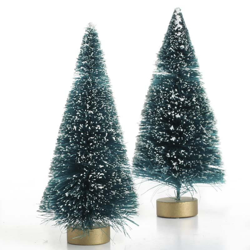 Frosted Green Bottle Brush Trees Trees And Toppers