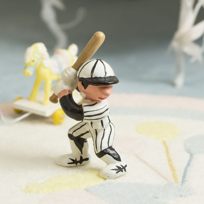 Miniature up to bat baseball player craft supplies sale for Mini baseball bats for crafts
