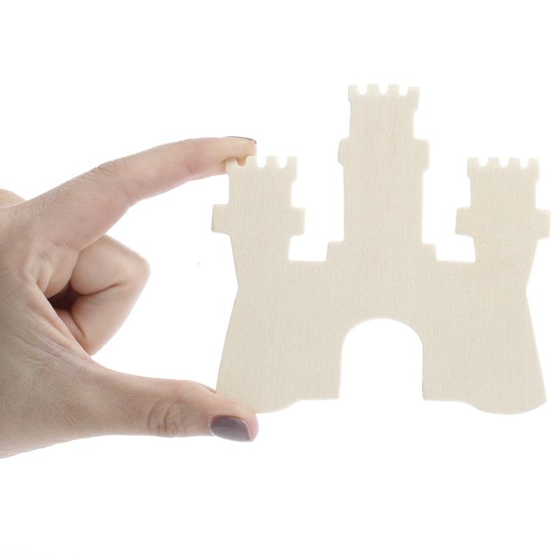 Unfinished wood castle cutout wood cutouts unfinished for Wood cutouts for crafts