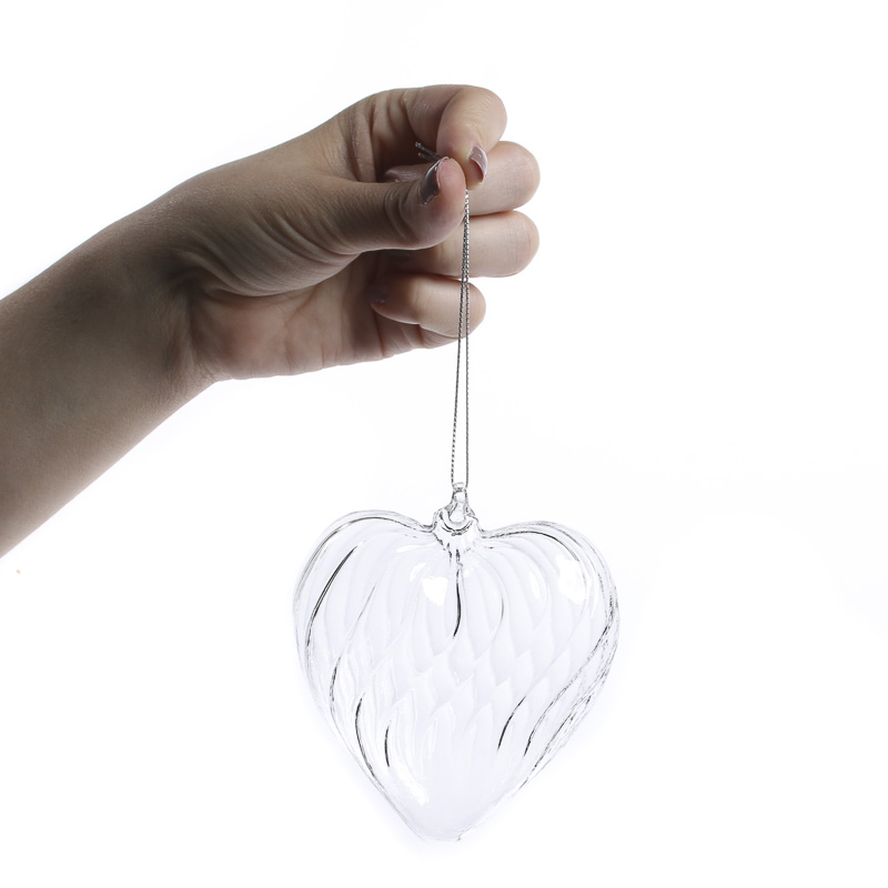 Hand Blown Glass Heart Ornament