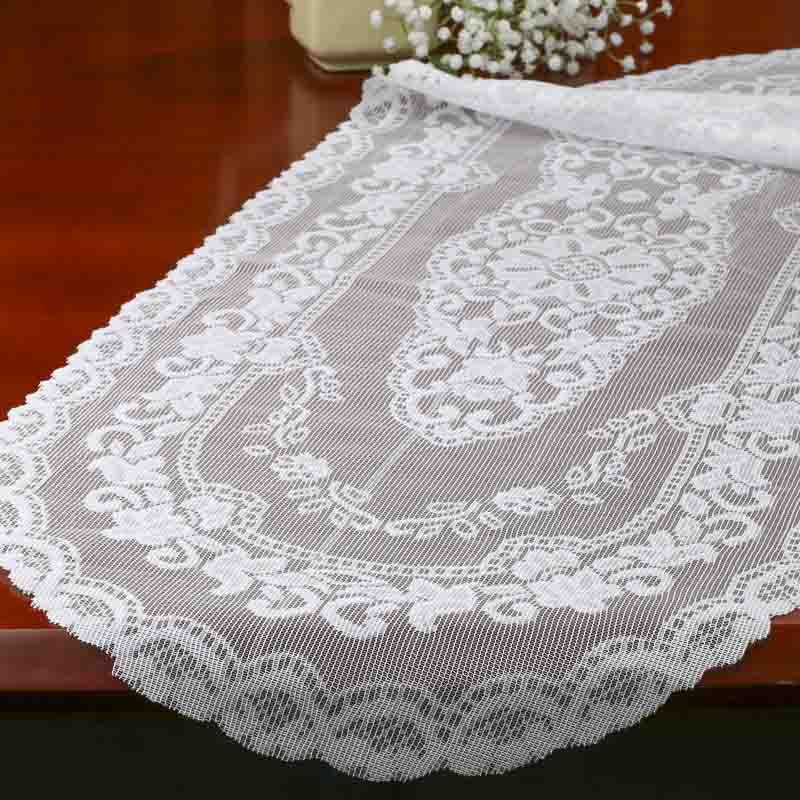 White Lace Floral Table Runner Crochet And Lace Doilies