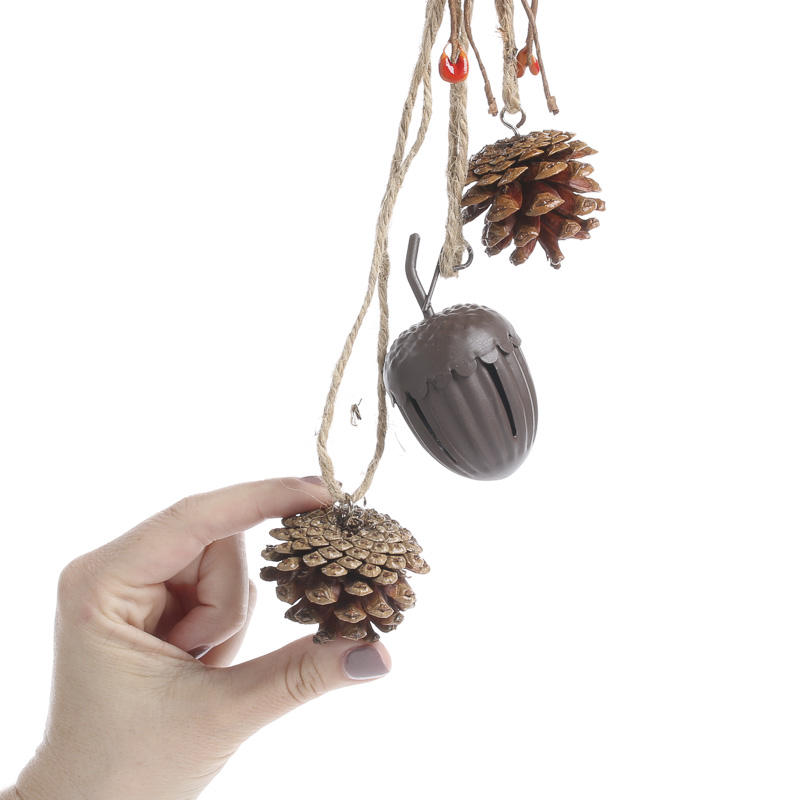 Rustic Pinecone and Acorn Bell Autumn Door Hanger - Wall Art - Fall ...