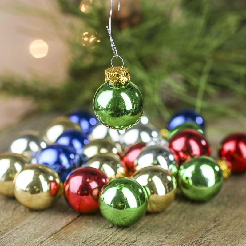 Miniature glass ball ornaments christmas