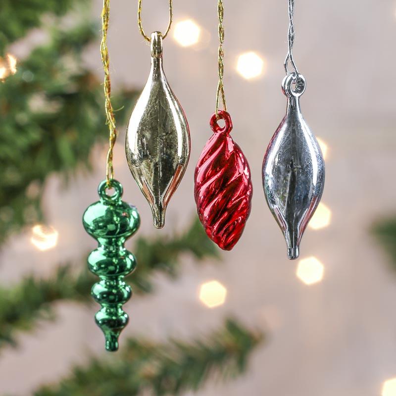 Assorted miniature christmas ornaments