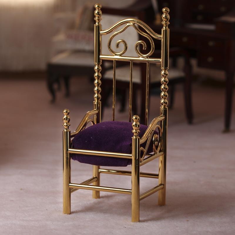 Dollhouse Miniature Royal Chair Miniature Furniture Dollhouse