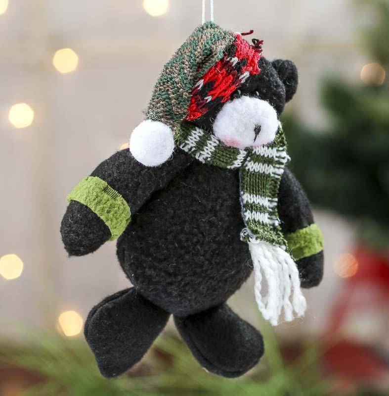 Plush Teddy Bear Christmas Ornament - On Sale - Holiday Crafts