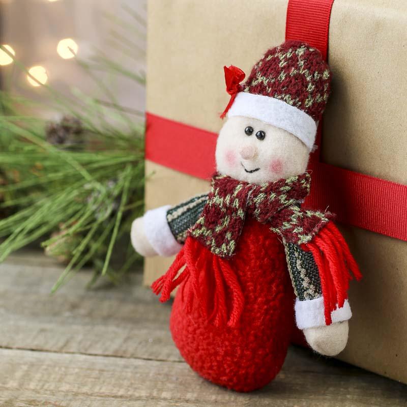 plush mrs  claus christmas ornament