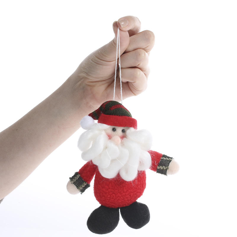 plush santa christmas ornament
