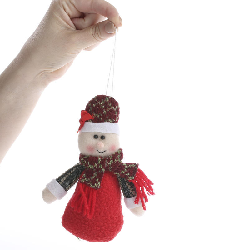 plush mrs  claus christmas ornament