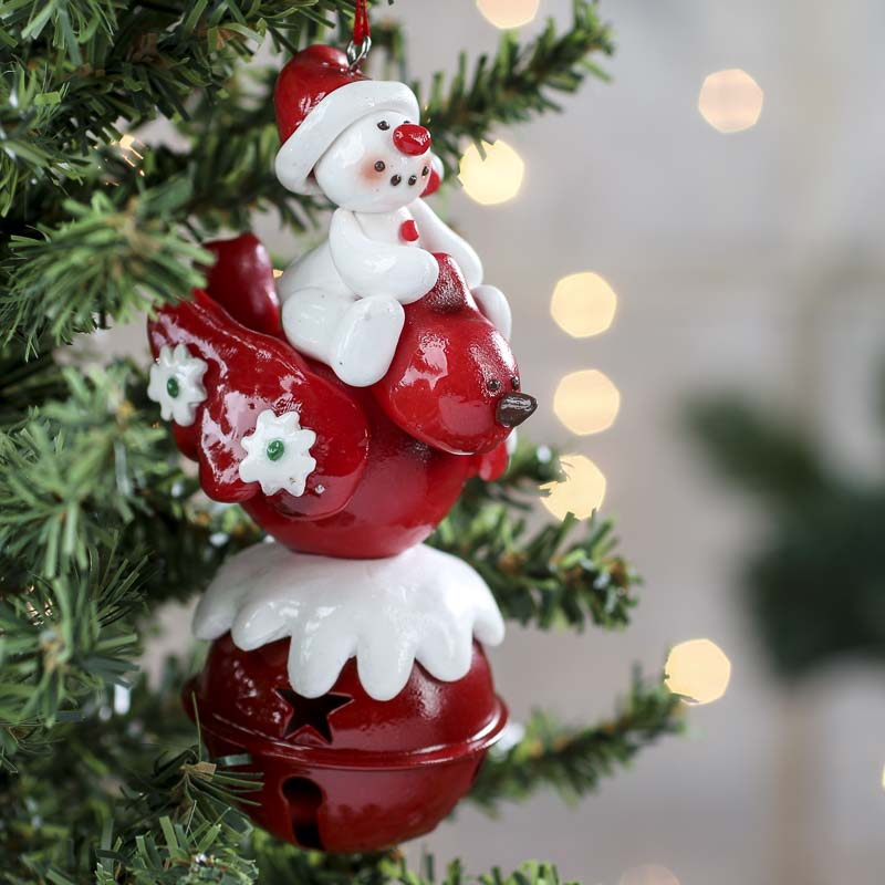 holiday sleigh bell ornament