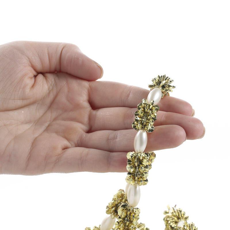 Metallic Snowflake Bead Garland - Christmas Garlands ...