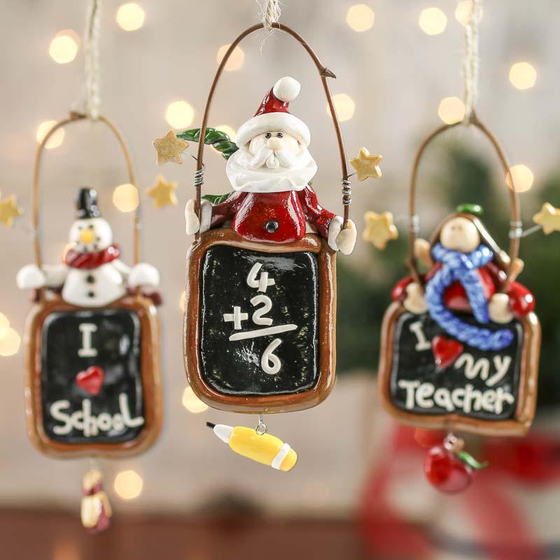 fimo clay teacher christmas ornament - beach theme wedding cards