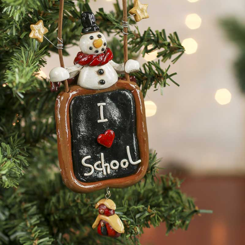 fimo clay teacher christmas ornament