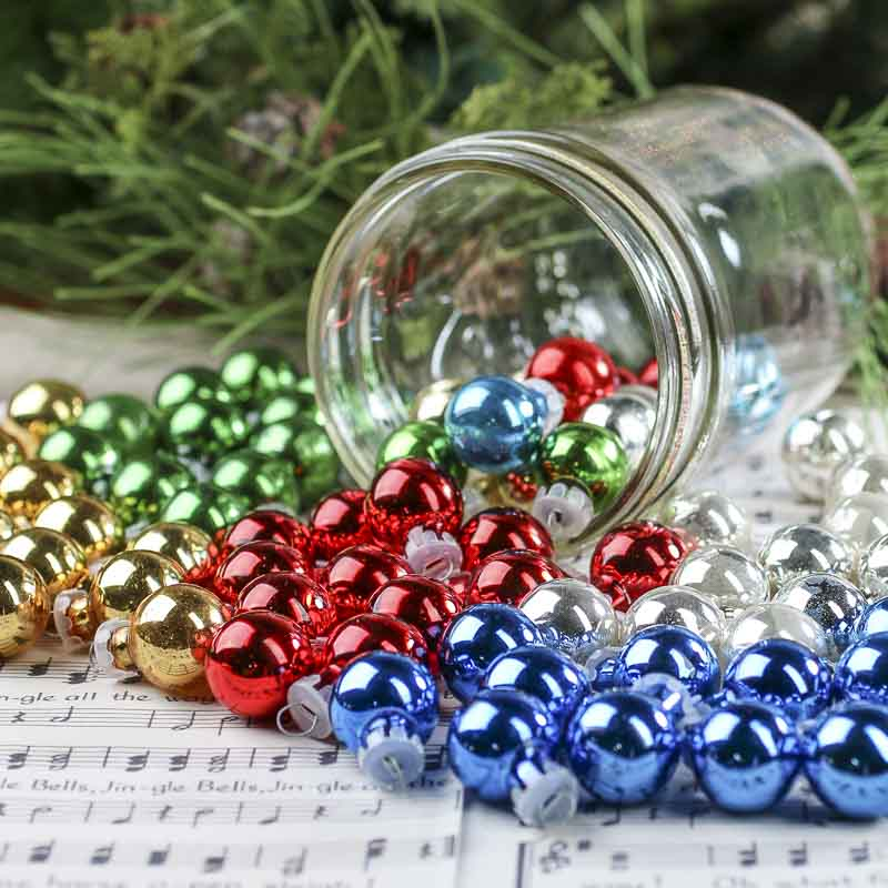 Miniature Glass Ball Ornaments - Christmas Ornaments ...