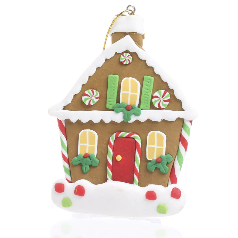Polymer Clay Gingerbread House Ornament - Christmas ...