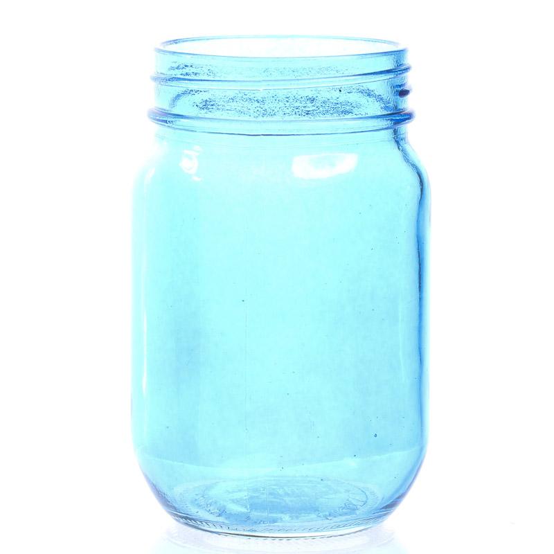 Blue Glass Canning Jar - Soap Pumps, Lids, Jars - Craft ...